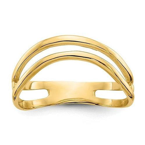 14K Double Curve Toe/Thumb Ring