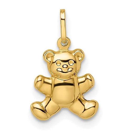 Gold Teddy Bear Charm