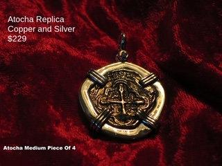 Sterling Silver Atocha Copper Piece of Four Pendant