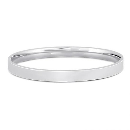 14K White Gold Classic Bangle 6mm
