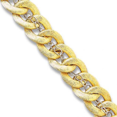 14K Gold Double Layered Link Bracelet