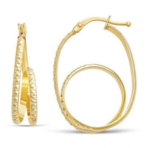 14K Gold 2.4GR Curled Hoop Earrings