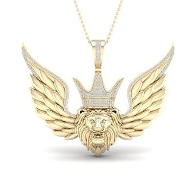 10KT Gold Lion with wings