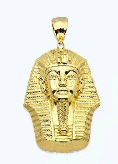 10K Gold Tutankhamun Egypt Pendant