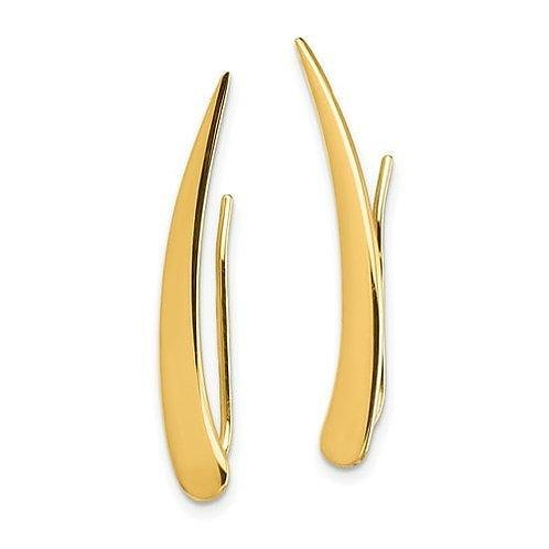 14K Gold Climber Earrings