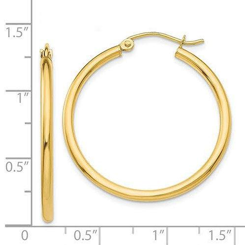 14K Gold Hoop Earrings 7