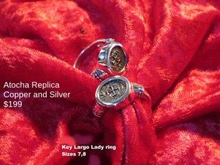 Sterling Silver Atocha Copper Replica Key Largo Ring