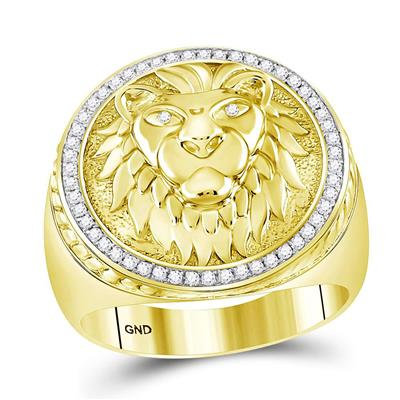 10K Gold Lion Ring