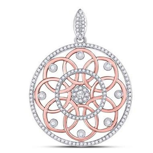 Rose Gold & Diamond Circle Pendant