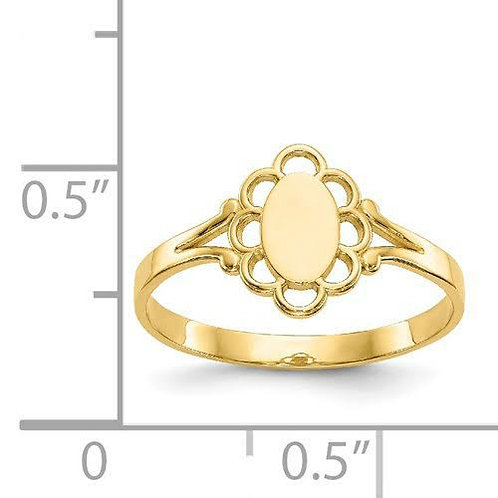 14k Gold Baby Signet Ring