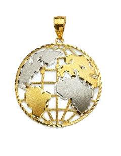 10K Gold Globe Pendant