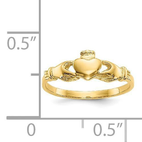 14k Gold Baby Claddagh Ring