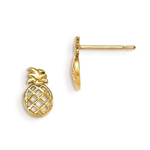 14k Gold Pineapple Children's Earrings