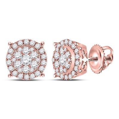 14K Rose Gold .50ctw Diamond Earrings