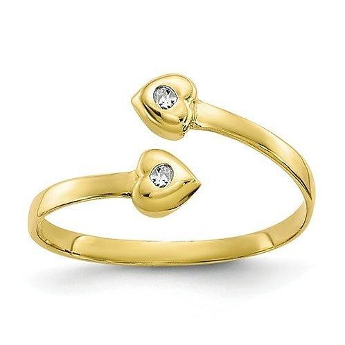 14K Heart Toe/Thumb Ring