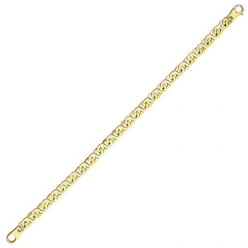 14K Fancy Men's Bracelet, 14.8gr