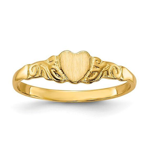 14K Gold Heart Children's Ring
