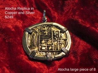 Sterling Silver Atocha Copper Replica Piece of Eight Pendant