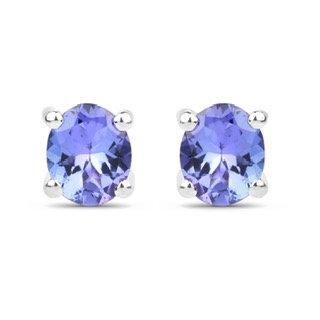 Sterling Silver .66ctw Tanzanite Earrings