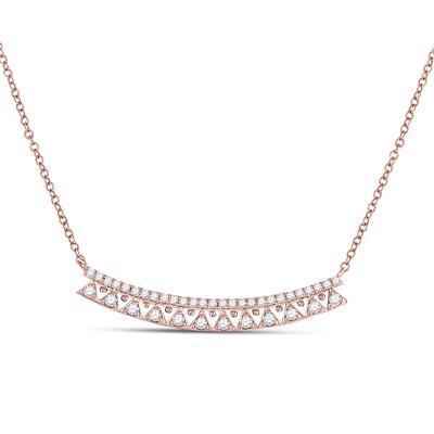 14K Rose Gold .50ctw Diamond Necklace