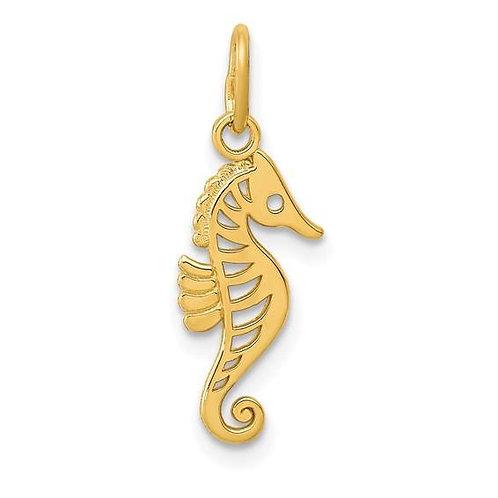Gold Seahorse Charm
