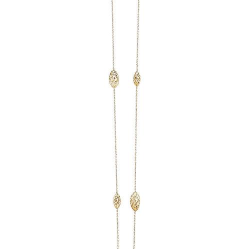 """14K Gold 36"""" Design Necklace"""
