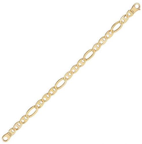 14K Fancy Men's Bracelet, 16.3gr