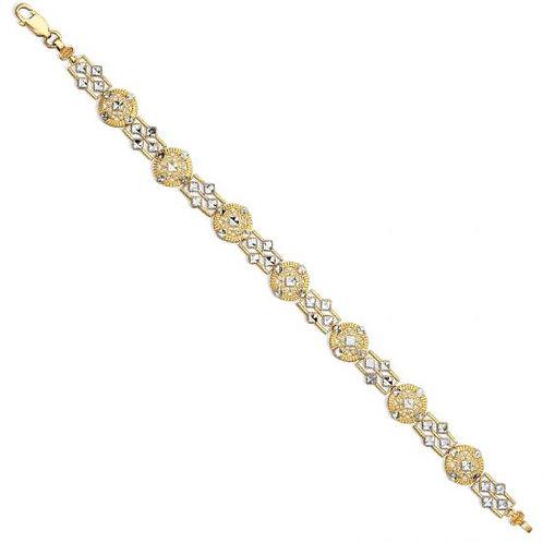 14K Gold Medieval Sensation Circle Bracelet