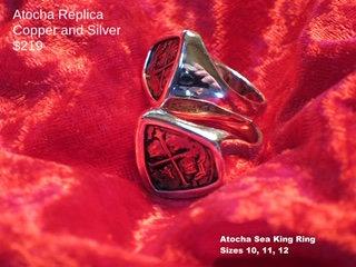Sterling Silver Atocha Copper Replica Sea King Ring
