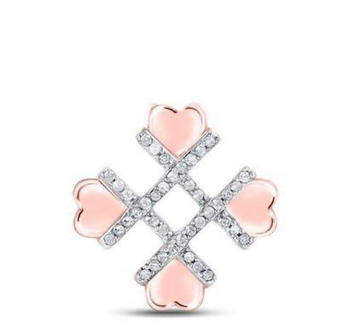 Rose Gold Hashtag Heart Pendant