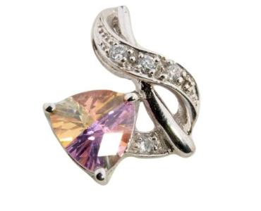 Sterling Silver Bermuda Lucky Stone Trillion Pendant