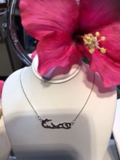 Sterling Silver Bermuda Island Necklace
