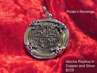Sterling Silver Atocha Copper Replica Pirate's Revenge Pendant
