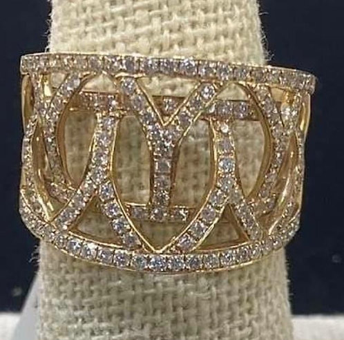 14K Gold .99ctw Diamond Ring