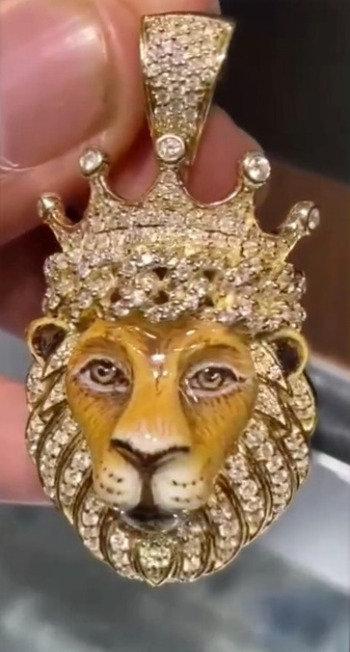 Gold, Diamond & Enamel Lion
