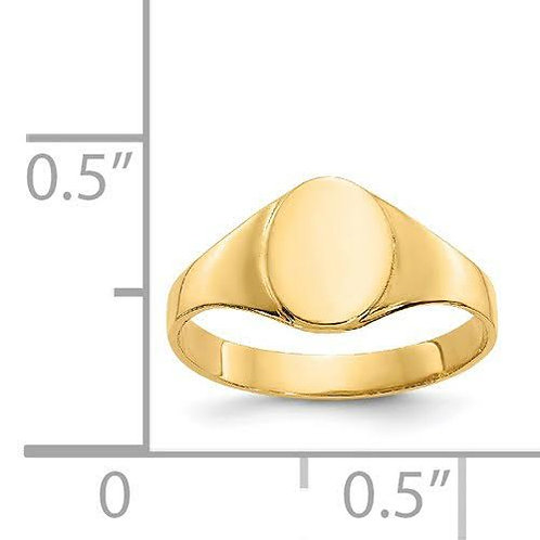 14k Gold Baby Signet Ring 2