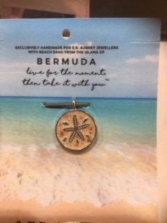 Stainless Steel Bermuda Pink Sand Starfish Charm