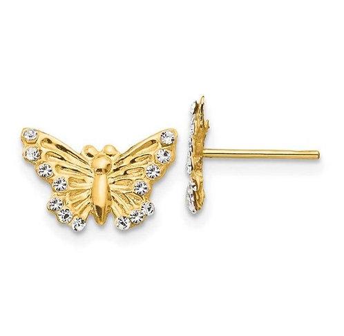 14K Gold Butterfly 2 Earrings