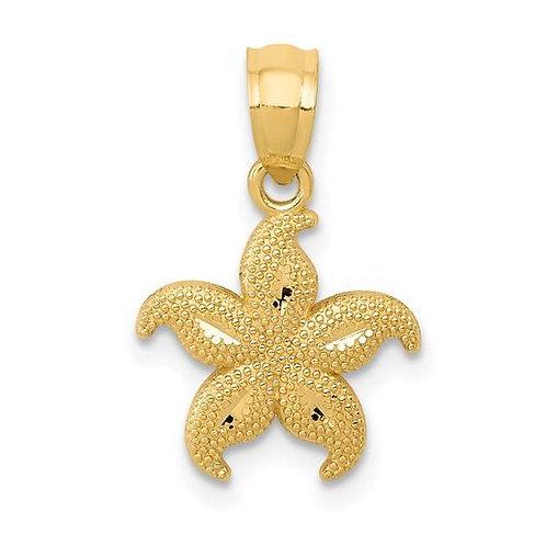 Gold Starfish Charm