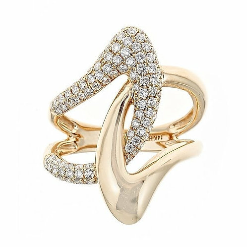 14K Gold .79ctw Diamond Ring 2