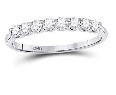 14K White Gold .50ctw Diamond Ring