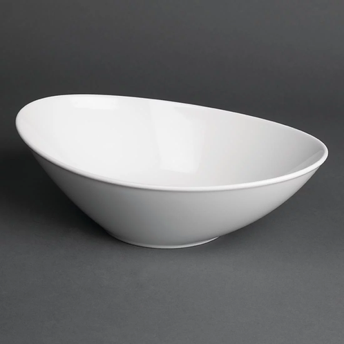 Chipping Norton Event Hire | Classic White Oval Salad Bowls 250mm