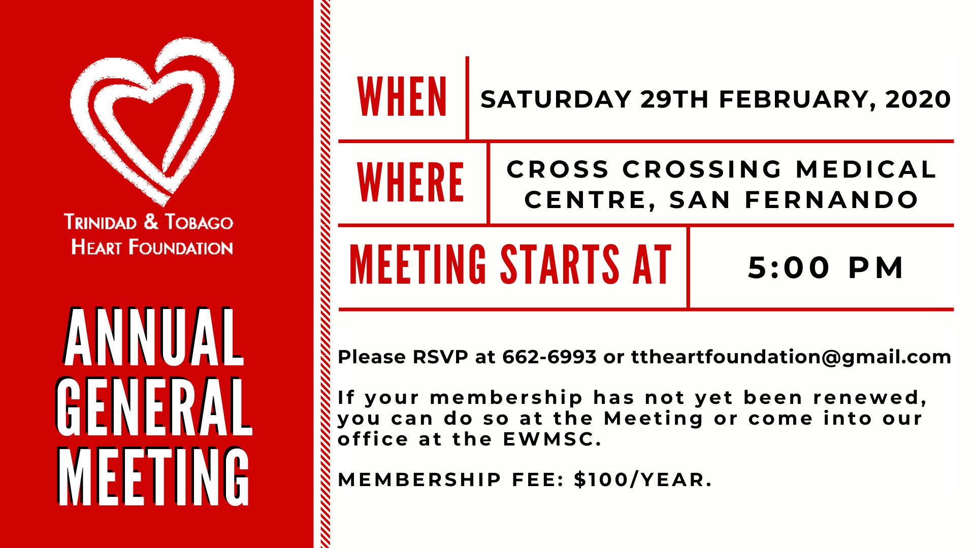 TTHF Annual General Meeting 2020