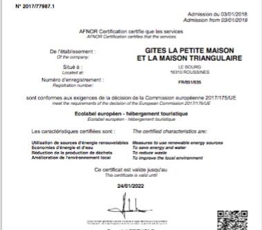 Nouvelle certification Ecolabel Européen 2018