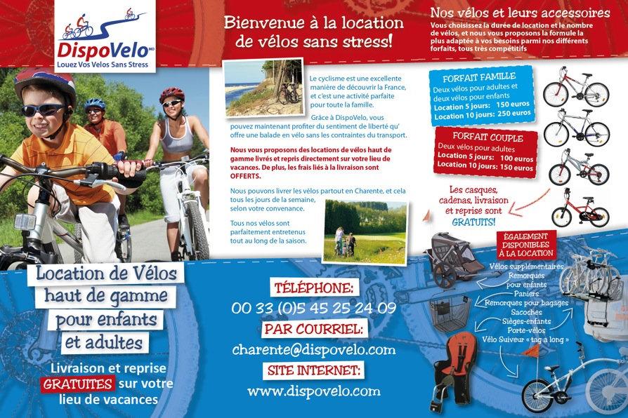 Dispovélo Charente, Gites Espace Détente