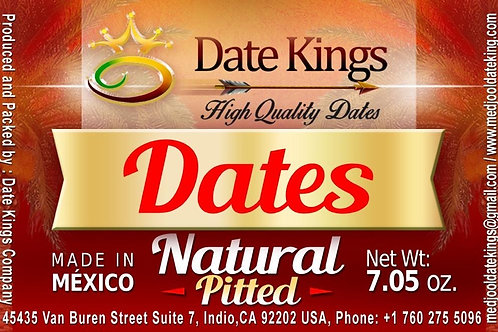 Natural Pitted Medjool Dates 7 oz
