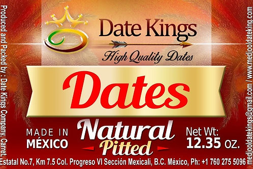 Natural Pitted Medjool Dates 12 oz