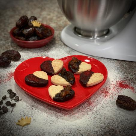 Galletas de Azúcar con Dátil y Chocolate