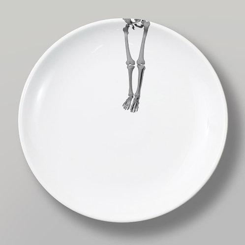 Skeleton Legs Dinner Plate by Timothy White