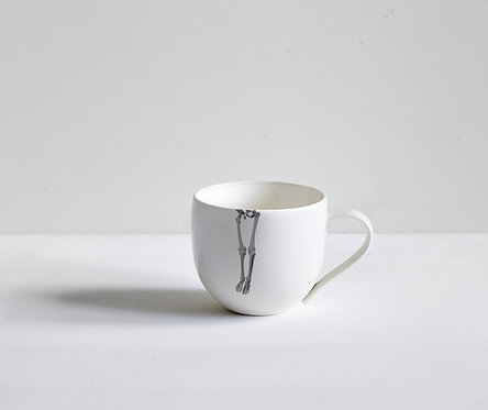 Skeleton Legs Tea Cup by Timothy White